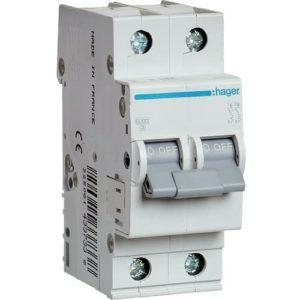 Автоматический выключатель Hager 6kA х-ка B 2P 16А двух полюсный