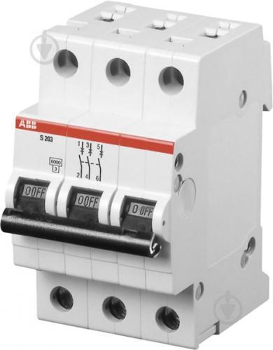 Автоматический выключатель ABB SH203 3р 10А х-ка B 6kA Атомат АВВ