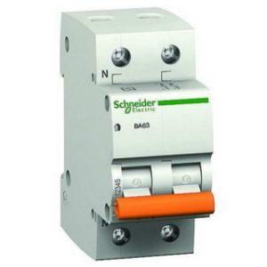 Автоматический выключатель Schneider Electric ВА63 1P+N 10A хар-ка C 4,5кА Автоматы