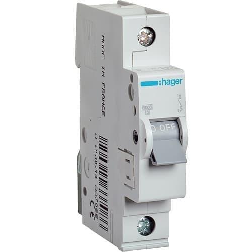 Автоматический выключатель Hager 6kA х-ка B 1P 16А Автомат Hager