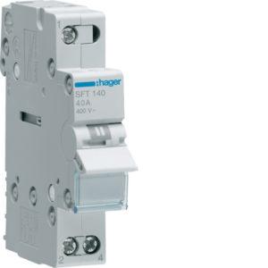 Переключатель Hager 40А SFT225 I-0-II общий ввод с верху Переключатель Hager 2Р
