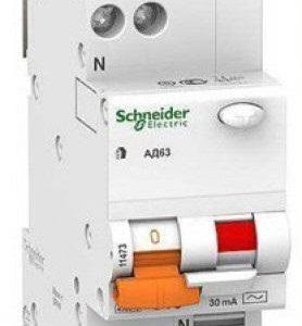 Автоматический выключатель дифференциального (диф реле Schneider) тока однофазное 2p 25А тип АС 30mA АД63 Диф автомат однофазный Schneider