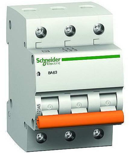Автоматический выключатель ВА63 3P 25A C Домовой Schneider Electric Автоматы