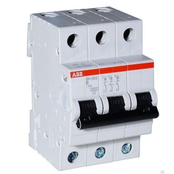 Автоматический выключатель ABB SH203 3p 32А х-ка B 6kA Атомат АВВ