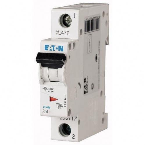Автоматический выключатель Eaton (Moeller) PL4 4,5kA х-ка C 1P 16А х-ка C 4,5kA Автомат однополюсный Eaton