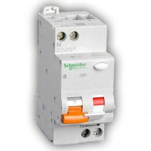 Дифавтомат 40A 300mA 4,5kA 2 полюса тип C тип AC  Домовой АД63К Schneider Electric Диф реле однофазное Schneider