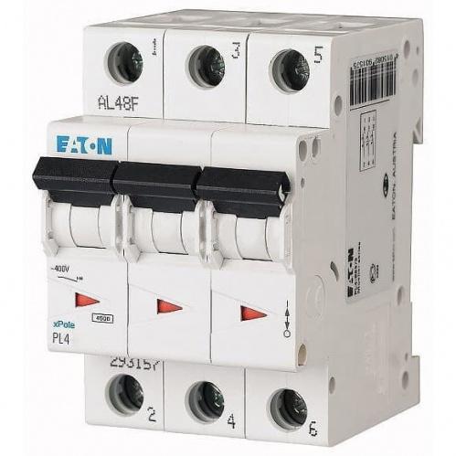 Автоматический выключатель Eaton (Moeller) 3p 25А х-ка C 4,5kA Автоматы