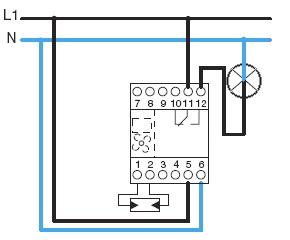 Сумеречное реле c подключаемым датчиком EE003 Сумеречное реле с суточным аналоговым таймером Hager