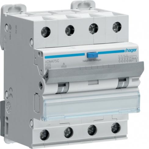 ДИФ автомат трёхфазный 4p 25A тип A х-ка С 30mA ДИФреле трехфазное 4p