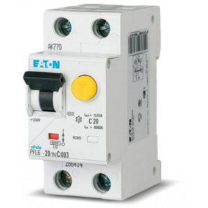 Дифференциальный автомат Eaton HNB-C20/1N/003 2P 20А 30мА тип C ДИФ автомат однофазний