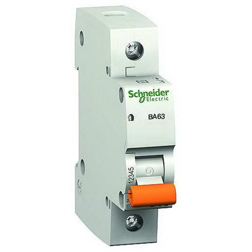Автоматический выключатель 1p 63А х-ка C 4,5kA Автоматы