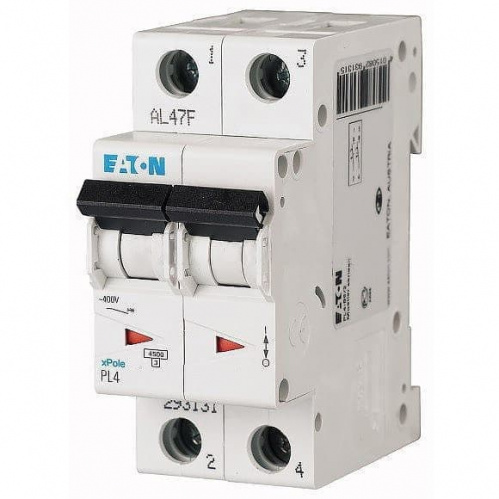 Автоматический выключатель Eaton (Moeller) 2p 20А х-ка C 4,5kA Автоматы