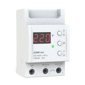 Реле контроля напряжения 25А ZUBR D25 Реле напряжения ZUBR