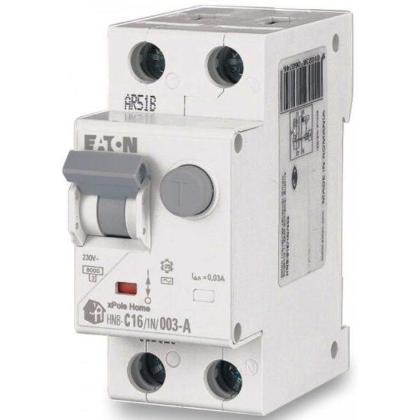 Дифференциальный автомат 2P. 16А 30мА HNB-C16/1N/003 EATON тип C ДИФ автомат однофазний