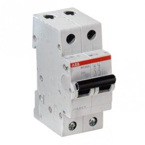Автоматический выключатель ABB SH201 2p 25А х-ка B 6kA Атомат АВВ