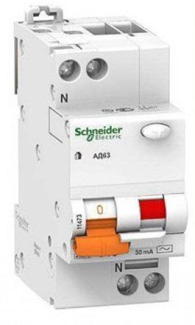Дифференциальный автомат Schneider Electric 2P 32А 30мА Диф автомат однофазный Schneider