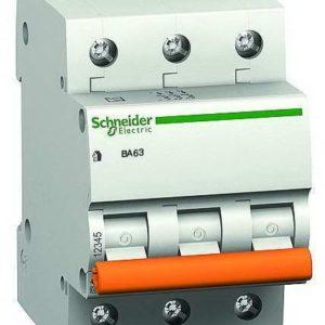 Автоматический выключатель BА63 3P 10A C Домовой Schneider Electric Атомат АВВ трехполюсный