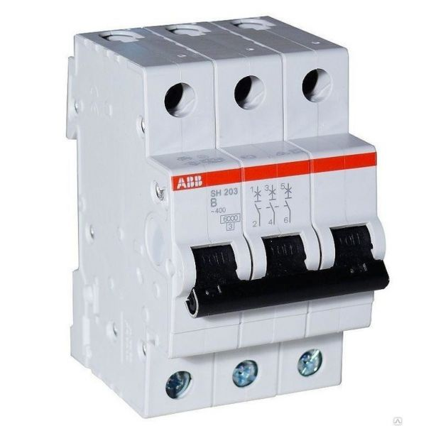 Автоматический выключатель ABB SH203 3p 16А х-ка B 6kA Атомат АВВ