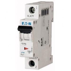 Автоматический выключатель Eaton (Moeller) PL4 4,5kA х-ка1p 25А х-ка C 4,5kA Автомат однополюсный Eaton