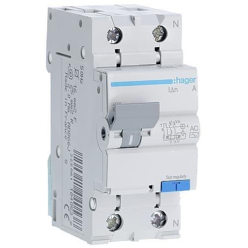Дифференциальный автомат Hager 2p20A типAC х-каB 30mA Дифференциальный автомат Hager 2p