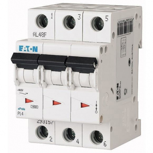 Автоматический выключатель Eaton (Moeller) 3p 10А х-ка C 4,5kA Автоматы