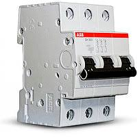 Защитный выключатель трехфазный. Автомат ABB S203-B25 Тип B 25А – 6кА Атомат АВВ