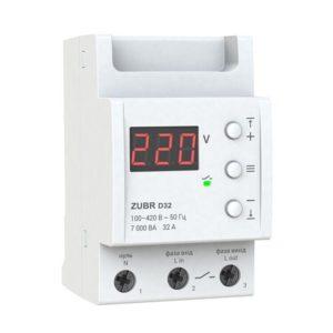 Реле контроля напряжения 32А ZUBR D32 Реле напряжения ZUBR