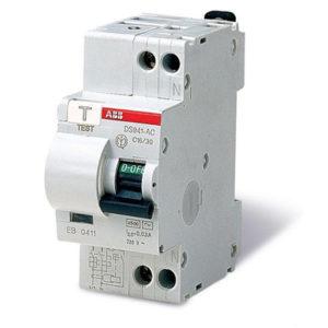 Дифференциальный автоматический выключатель ABB 2p 16A тип AC х-ка B 30mA Диф автомат АВВ однофазное