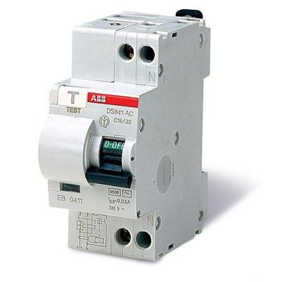 Дифавтомат АВВ 25А двухполюсный однофазный 25А, 30мА. Диф автомат АВВ однофазное